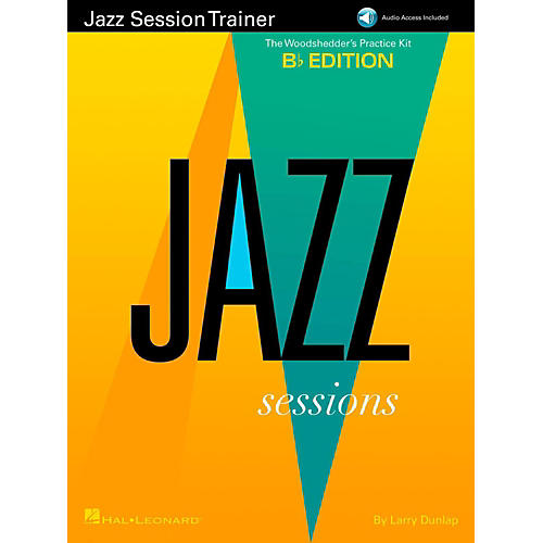 Hal Leonard Jazz Session Trainer - The Woodshedder's Practice Kit  B-Flat Edition (Book/Online Audio) thumbnail