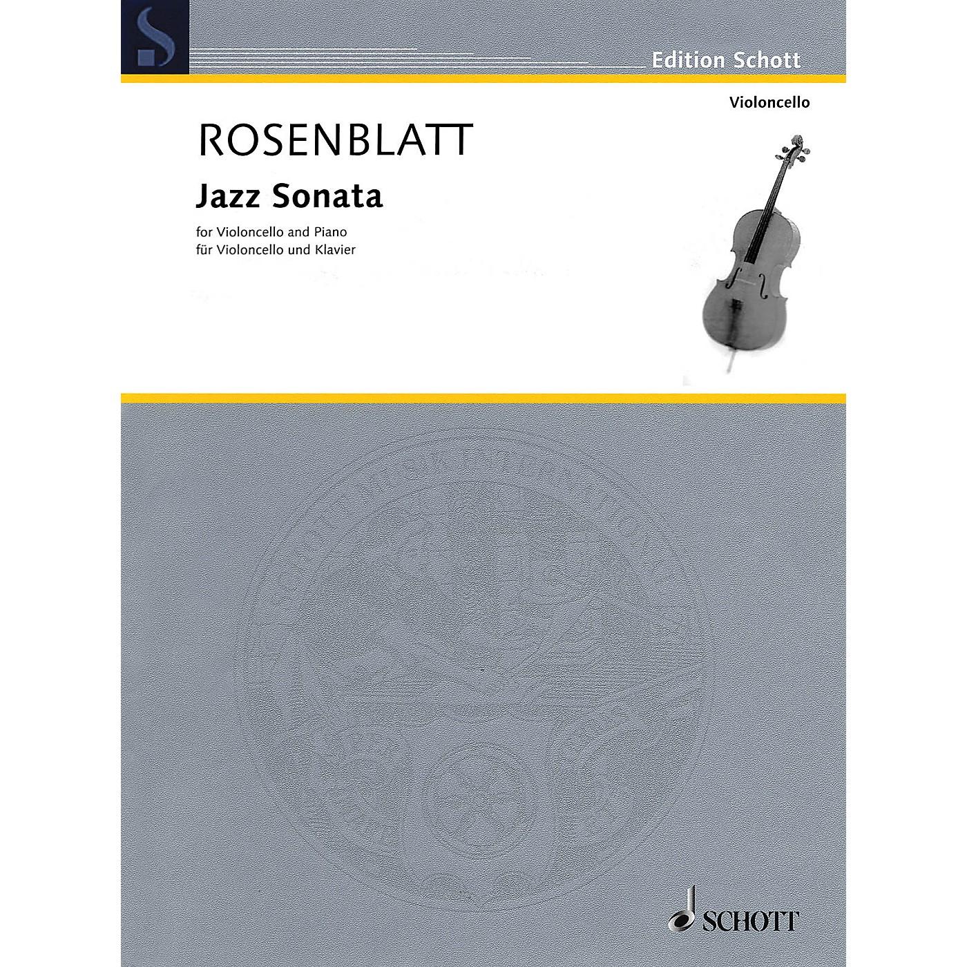 Schott Jazz Sonata (Cello and Piano) Schott Series Softcover Composed by Alexander Rosenblatt thumbnail