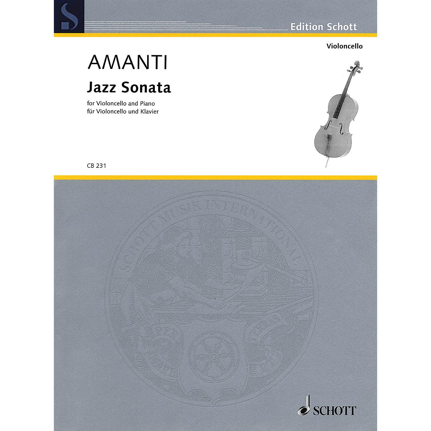 Schott Jazz Sonata (Violoncello and Piano) Schott Series Softcover Composed by Lucio Franco Amanti thumbnail