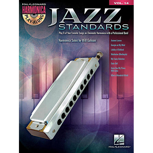 Hal Leonard Jazz Standards - Harmonica Play-Along Volume 14 Book/CD (Chromatic Harmonica) thumbnail