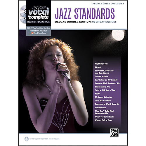Alfred Jazz Standards Female Voice  - Book & 2 CDs thumbnail