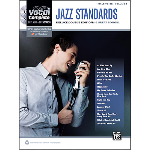 Alfred Jazz Standards Male Voice  - Book & CD thumbnail