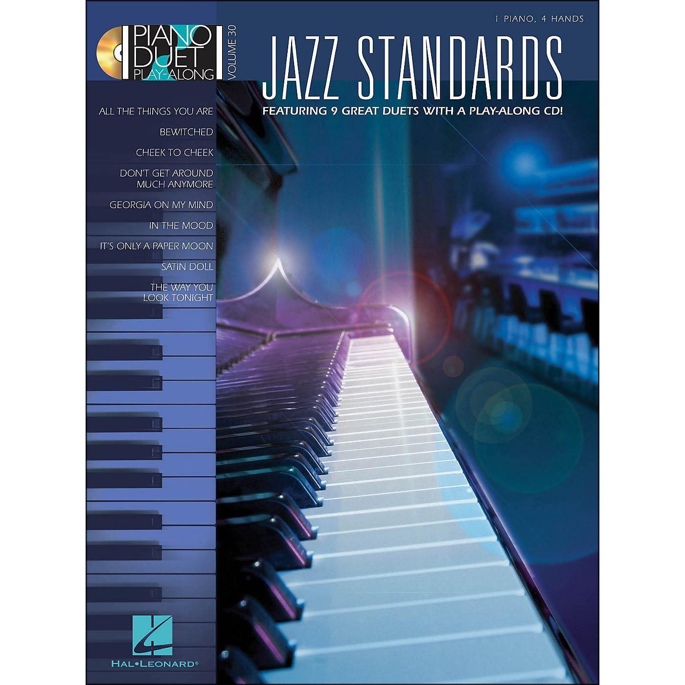 Hal Leonard Jazz Standards Piano Duet Play-Along Volume 30 Book/CD thumbnail