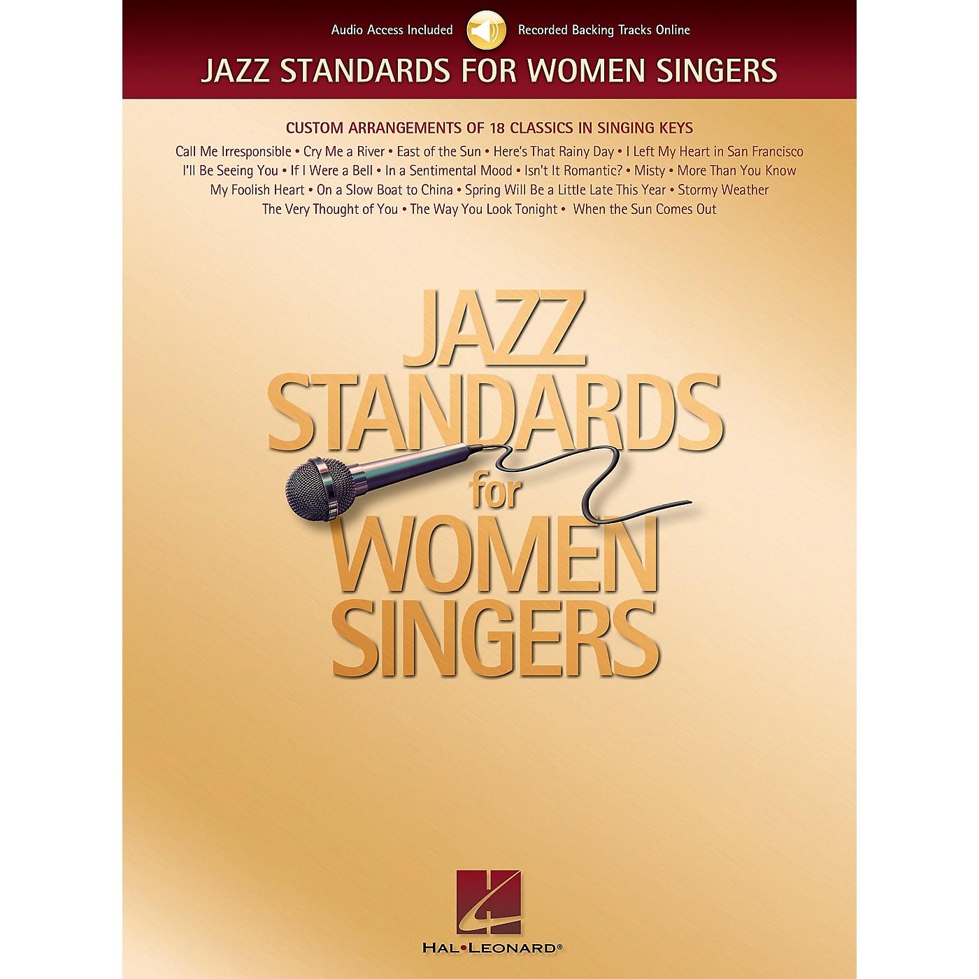 Hal Leonard Jazz Standards for Women Singers Book/CD thumbnail