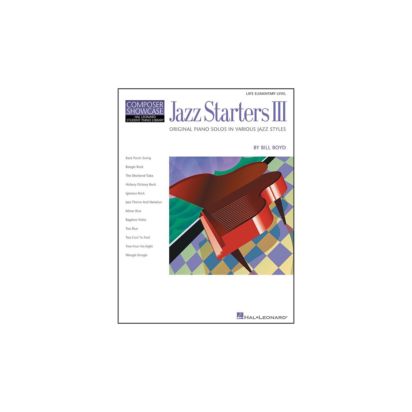 Hal Leonard Jazz Starters III Late Elementary Piano Solos Hal Leonard Student Piano Library by Bill Boyd thumbnail