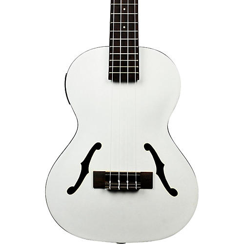 Kala Jazz Tenor Ukulele, Metallic White thumbnail