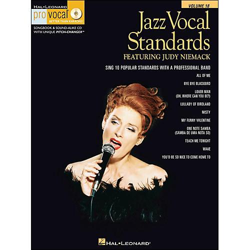 Hal Leonard Jazz Vocal Standards - Pro Vocal Series Featuring Judy Niemack Volume 18 Book/CD thumbnail