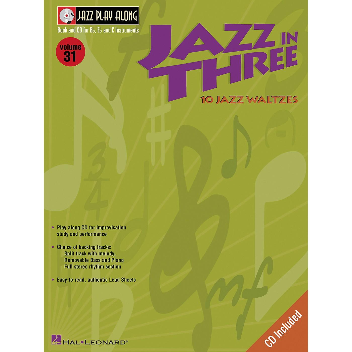 Hal Leonard Jazz in Three (Eb Instruments / C Instruments / Bb Instruments) (Book and CD Package) thumbnail