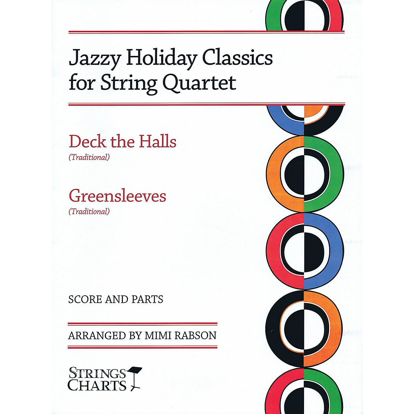 String Letter Publishing Jazzy Holiday Classics for String Quartet String Letter Publishing Series Softcover by Mimi Rabson thumbnail