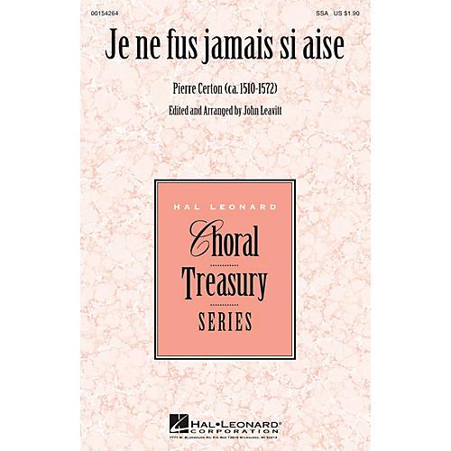 Hal Leonard Je ne fus jamais si aise SSA arranged by John Leavitt thumbnail