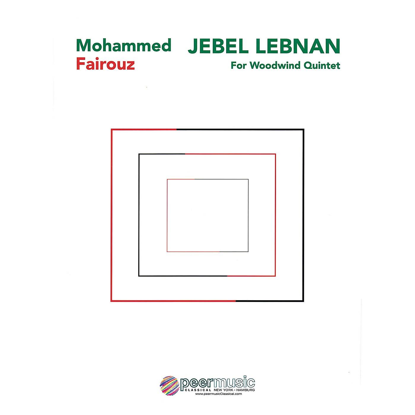 Peer Music Jebel Lebnan (Woodwind Quintet) Peermusic Classical Series by Mohammed Fairouz thumbnail
