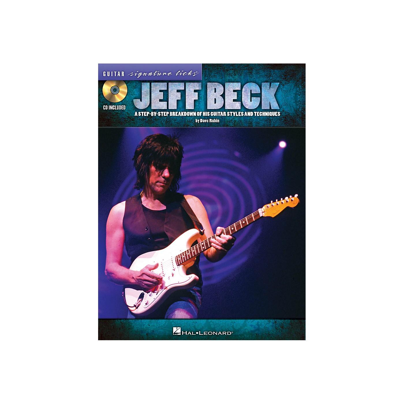 Hal Leonard Jeff Beck Guitar Signature Licks Book/CD thumbnail