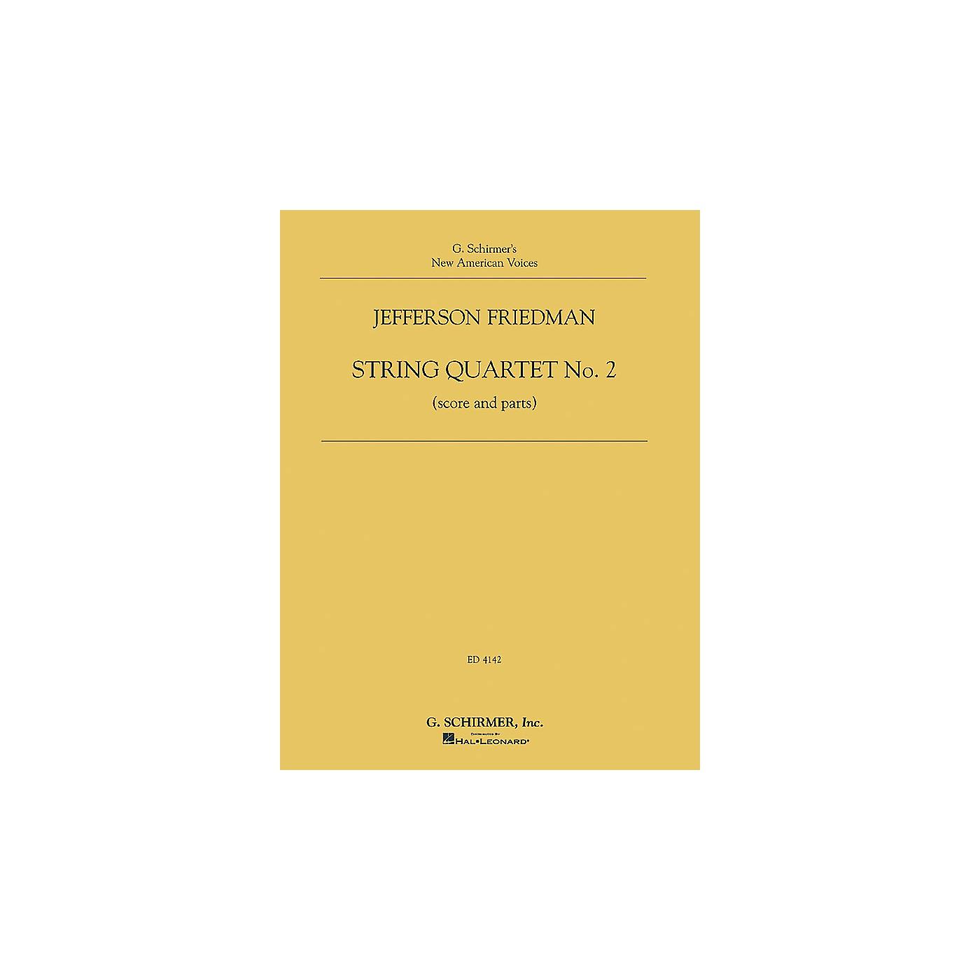G. Schirmer Jefferson Friedman - String Quartet No. 2 String Series Composed by Jefferson Friedman thumbnail