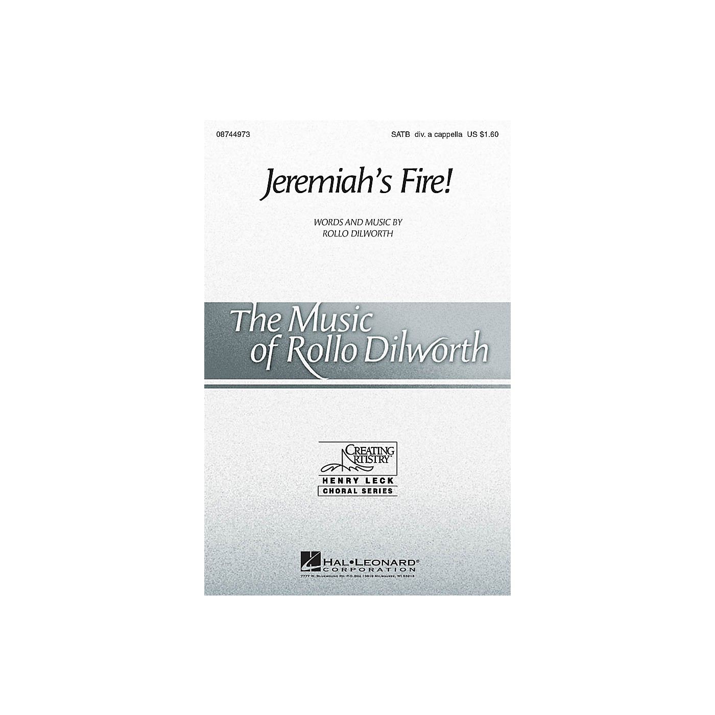 Hal Leonard Jeremiah's Fire! SATB DV A Cappella composed by Rollo Dilworth thumbnail