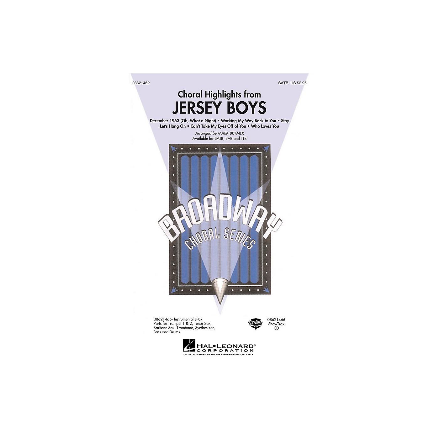 Hal Leonard Jersey Boys (Choral Highlights) SATB arranged by Mark Brymer thumbnail