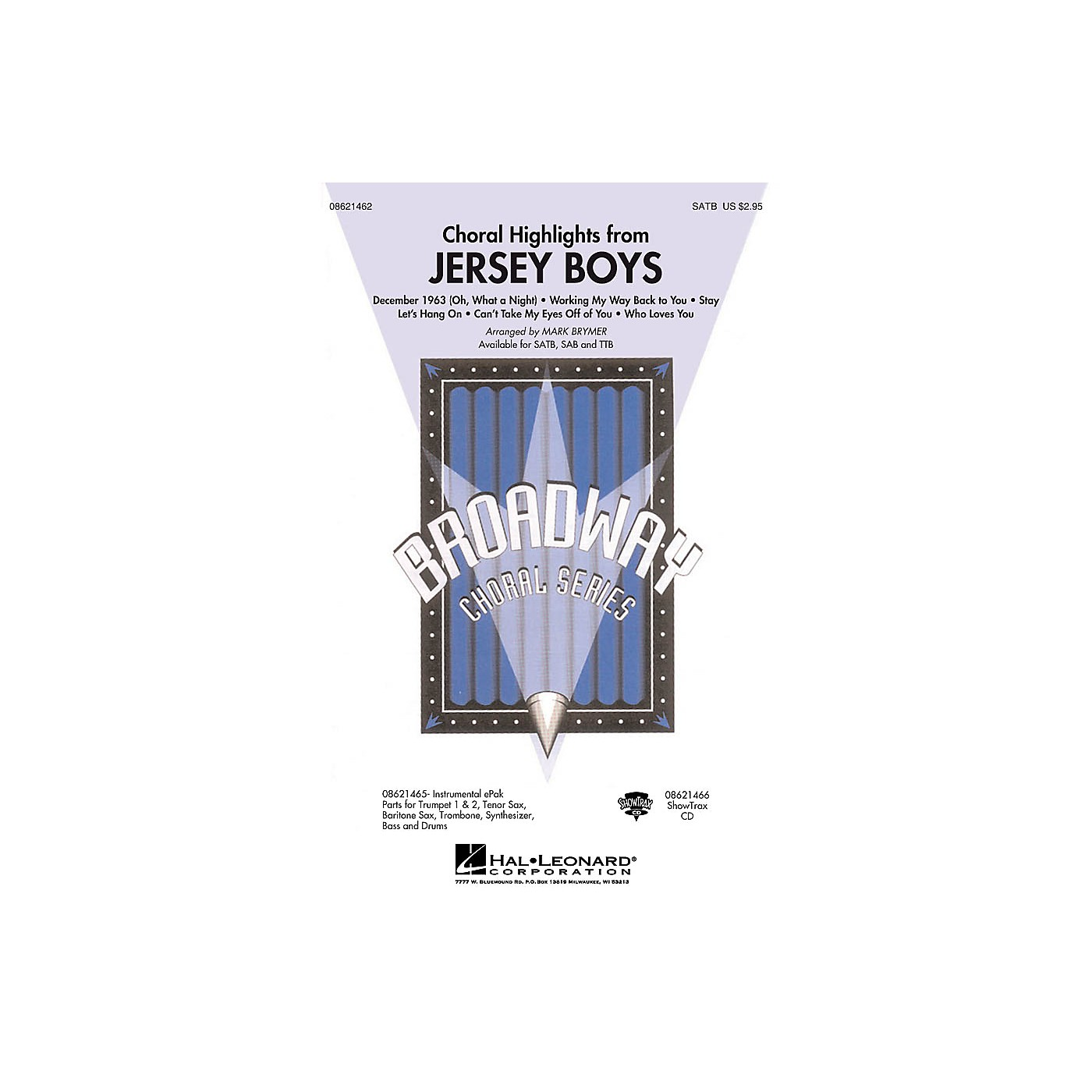 Hal Leonard Jersey Boys (Choral Highlights) TTB Arranged by Mark Brymer thumbnail