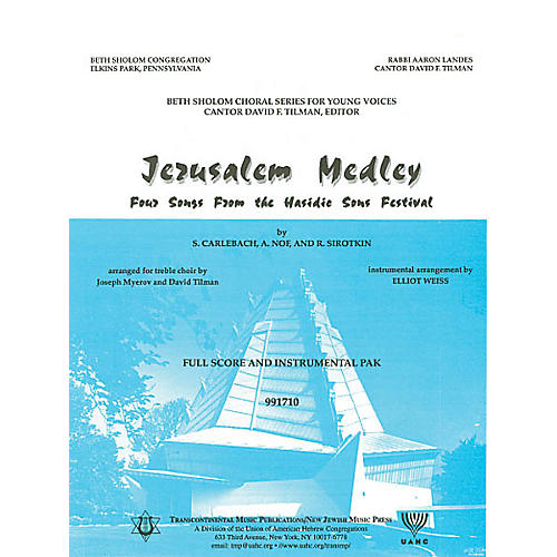 Transcontinental Music Jerusalem Medley (Instrumental Pak) Combo Parts arranged by Elliot Weiss thumbnail