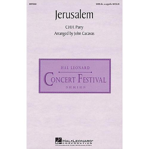 Hal Leonard Jerusalem SATB DV A Cappella arranged by John Cacavas thumbnail