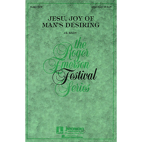 Hal Leonard Jesu, Joy of Man's Desiring 3-Part Mixed arranged by Roger Emerson thumbnail
