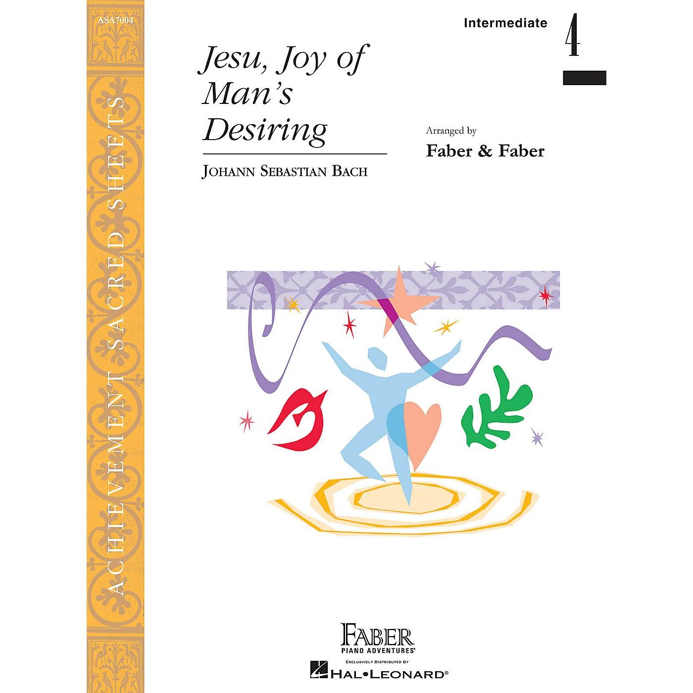 Faber Piano Adventures Jesu, Joy of Man's Desiring Faber Piano Adventures Series by Johann Sebastian Bach (Level Inter/Level 4) thumbnail