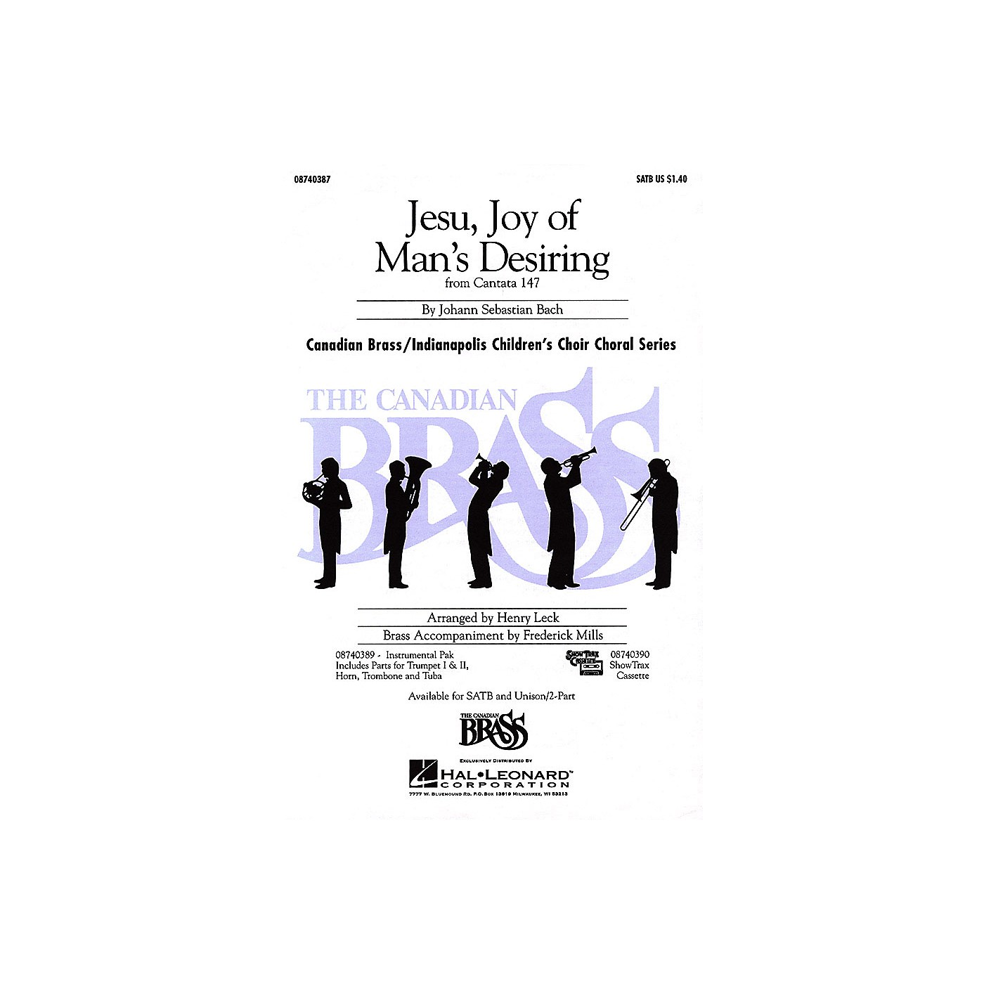 Hal Leonard Jesu, Joy of Man's Desiring SATB composed by Johann Sebastian Bach thumbnail