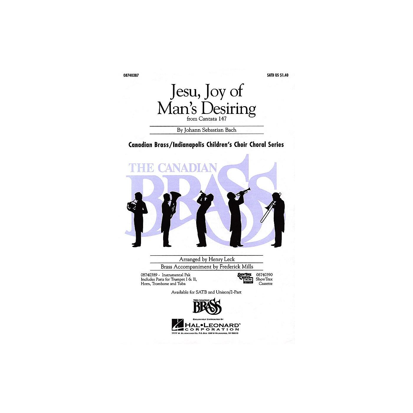 Hal Leonard Jesu, Joy of Man's Desiring UNIS/2PT Composed by Johann Sebastian Bach thumbnail