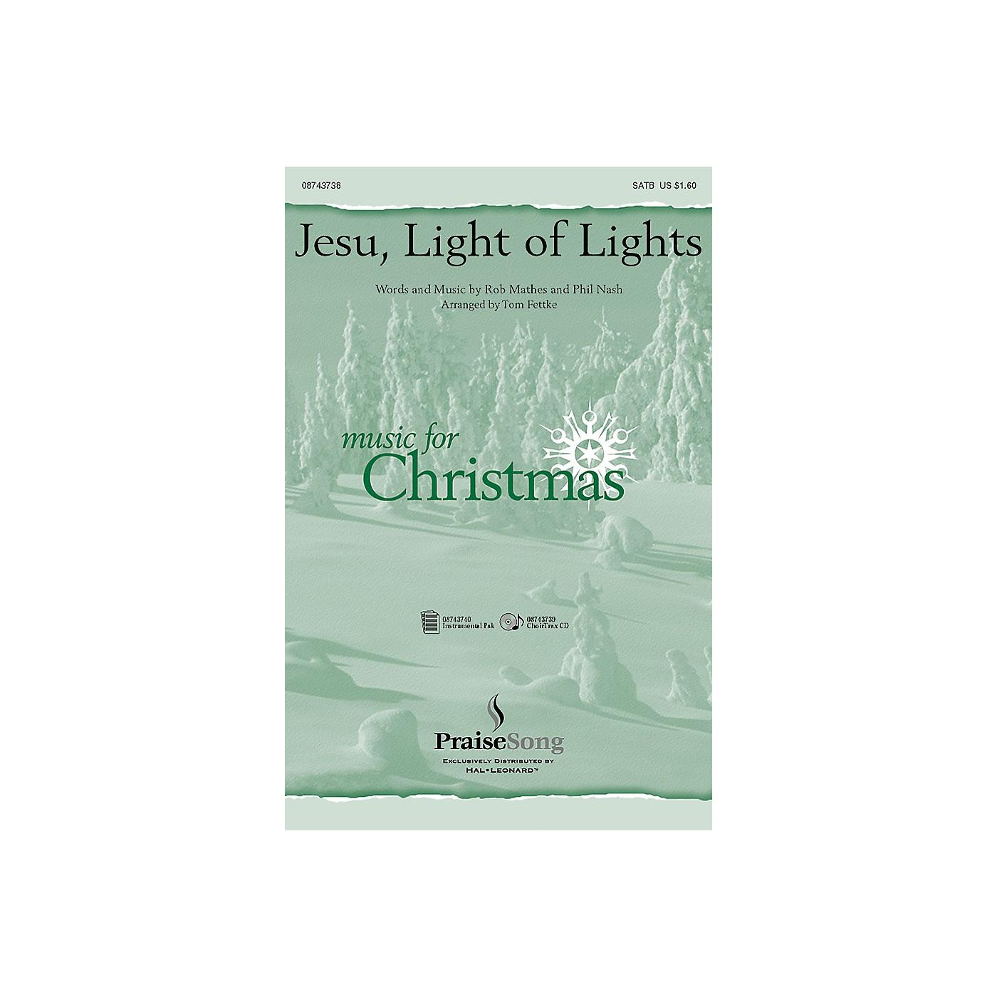 Hal Leonard Jesu Light of Lights IPAKO Arranged by Tom Fettke thumbnail