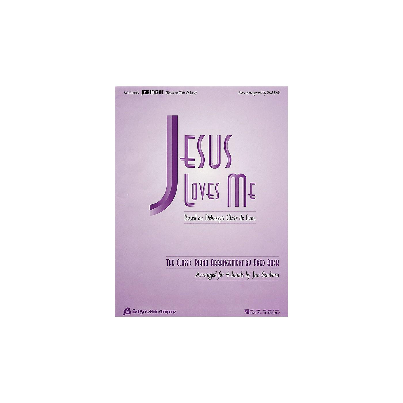 Fred Bock Music Jesus Loves Me (arr. Fred Bock/Jan Sanborn for 4-hand duet) Fred Bock Publications Series thumbnail