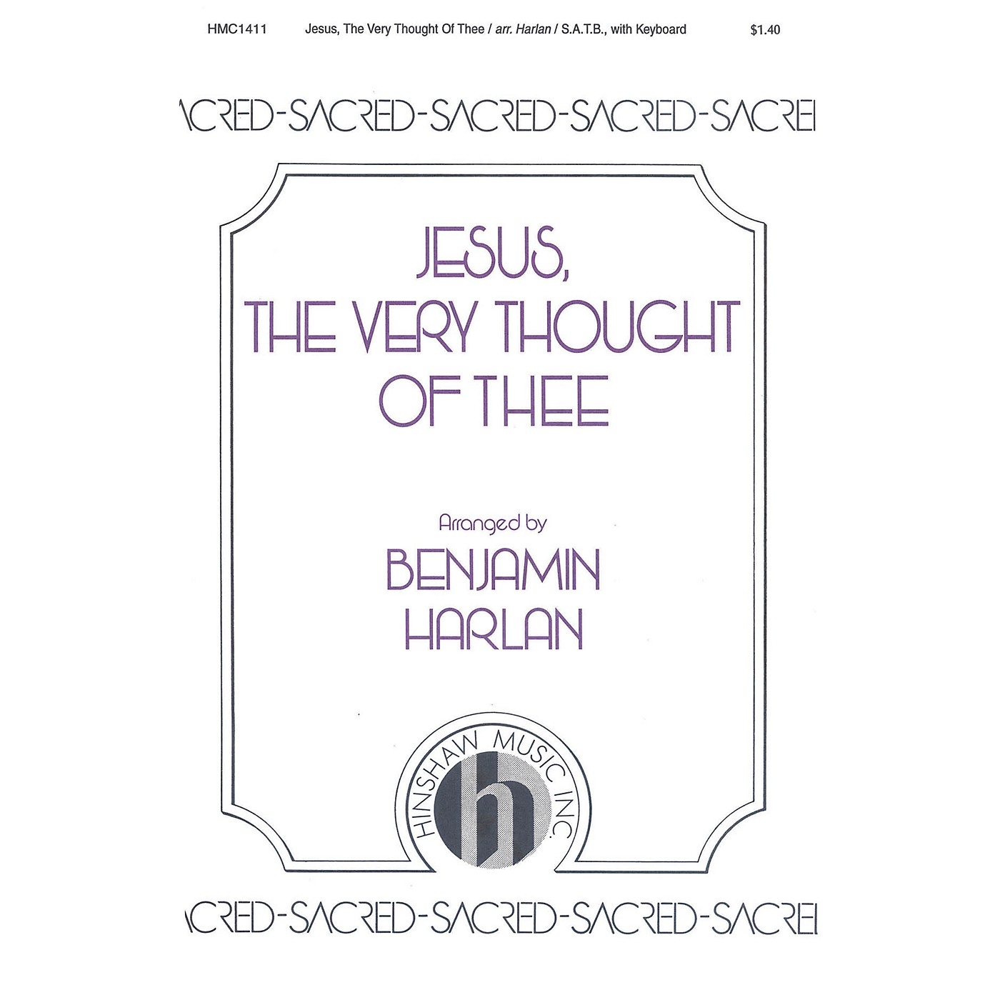 Hinshaw Music Jesus the Very Thought of Thee SATB arranged by Benjamin Harlan thumbnail