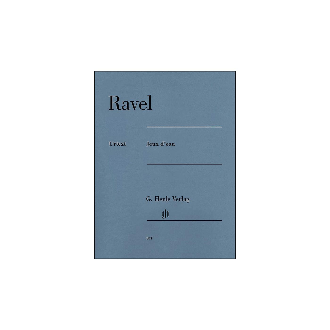 G. Henle Verlag Jeux d'eau Piano Solo By Ravel thumbnail