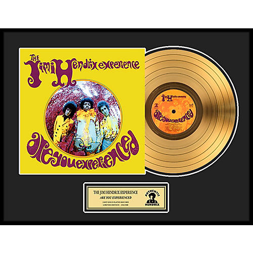 24 Kt. Gold Records Jimi Hendrix - Are You Experienced Gold LP Limited Edition of 2500 thumbnail