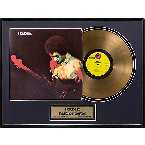 24 Kt. Gold Records Jimi Hendrix - Band of Gypsys Gold LP Limited Edition of 2500 thumbnail