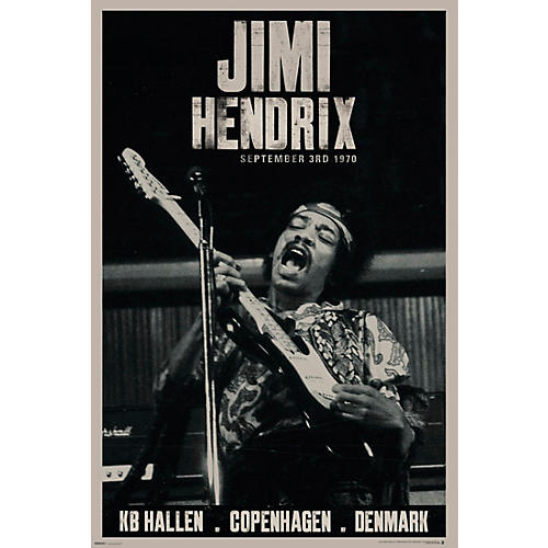 Hal Leonard Jimi Hendrix - Live Copenhagen - Wall Poster thumbnail