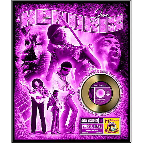 24 Kt. Gold Records Jimi Hendrix - Purple Haze Gold 45 Limited Edition of 2500 thumbnail