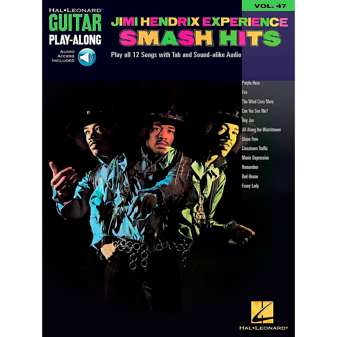 Hal Leonard Jimi Hendrix Experience Smash Hits Play-Along Guitar Tab Songbook with Online Audio thumbnail