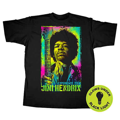Jimi Hendrix Jimi Hendrix Experience Tour Black Light T-Shirt-thumbnail