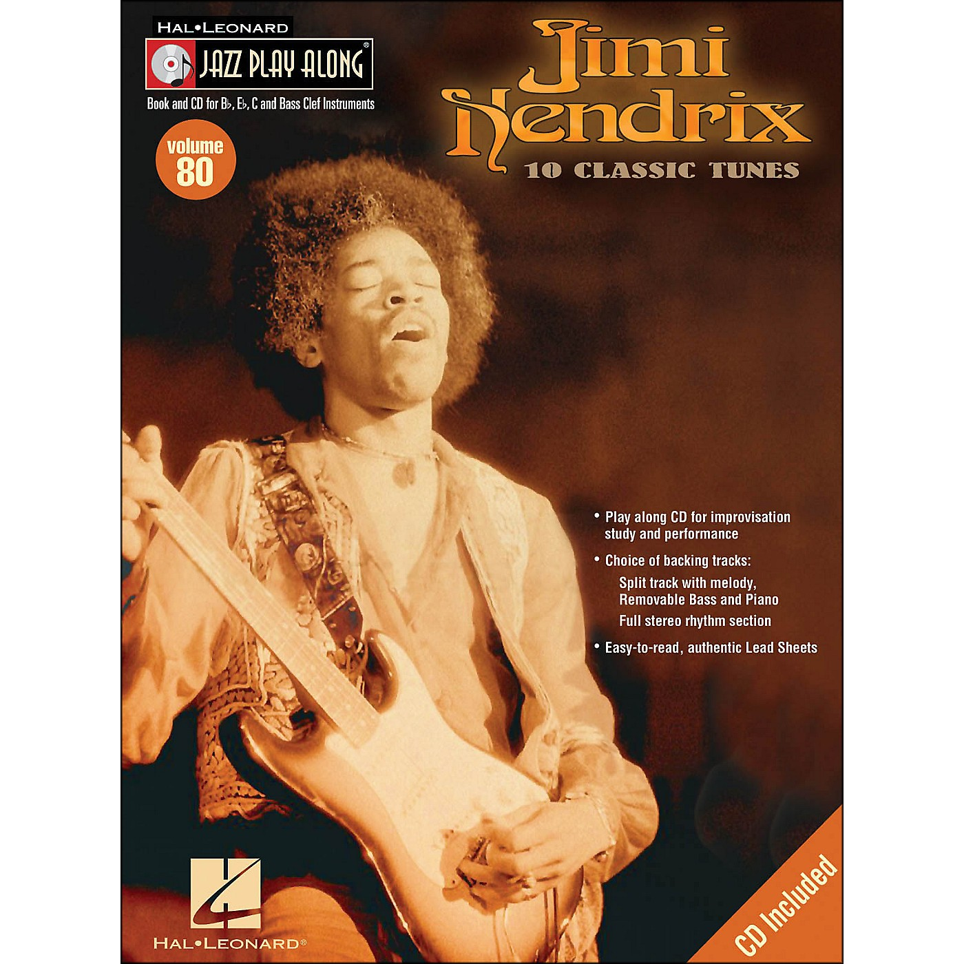Hal Leonard Jimi Hendrix Jazz Play-Along Volume 80 Book/CD thumbnail