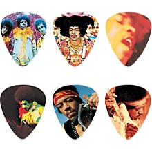 Dunlop Jimi Hendrix Montage Pick Tin with 6 Heavy Picks