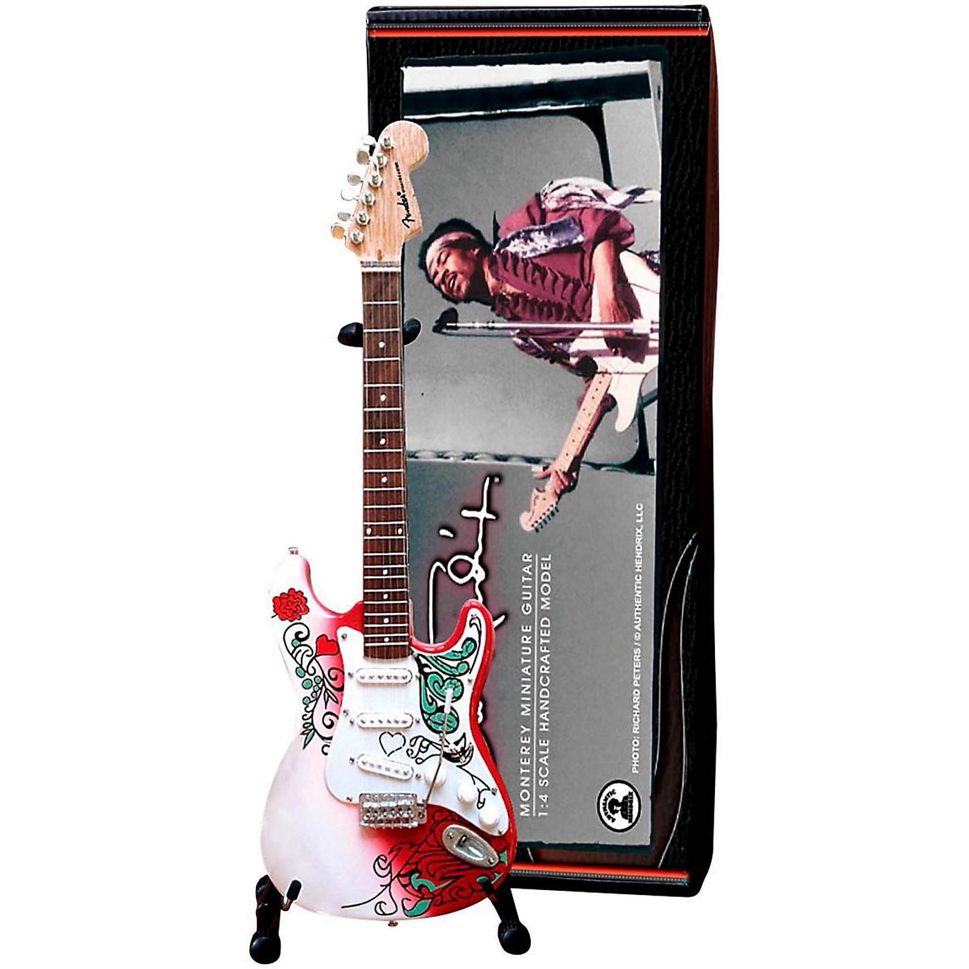 Axe Heaven Jimi Hendrix Monterey Fender Stratocaster Miniature Guitar Replica Collectible thumbnail
