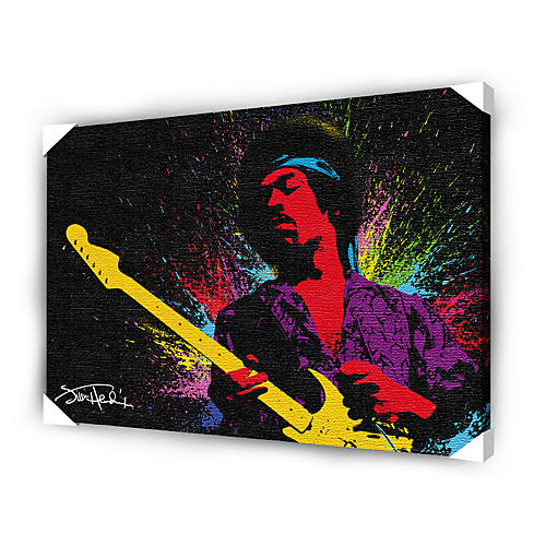 Ace Framing Jimi Hendrix Paint Canvas Poster thumbnail