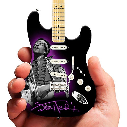 Axe Heaven Jimi Hendrix Photo Tribute Fender Stratocaster Miniature Guitar Replica Collectible thumbnail