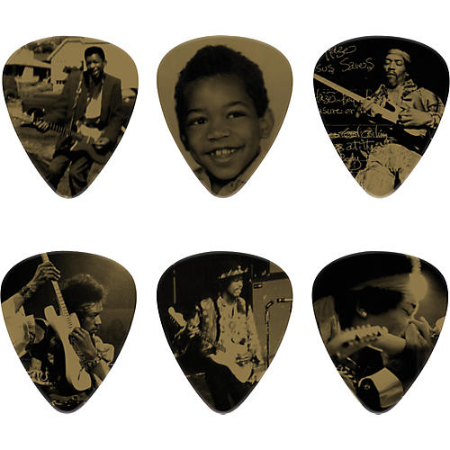 Dunlop Jimi Hendrix West Coast Seattle Boy Pick Tin with 6 Heavy Picks thumbnail