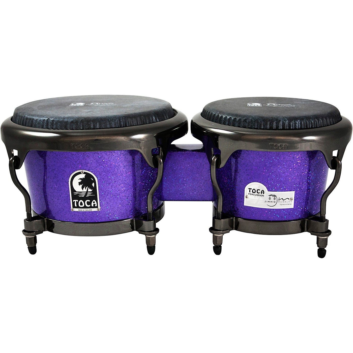 Toca Jimmie Morales Signature Series Purple Sparkle Bongos thumbnail