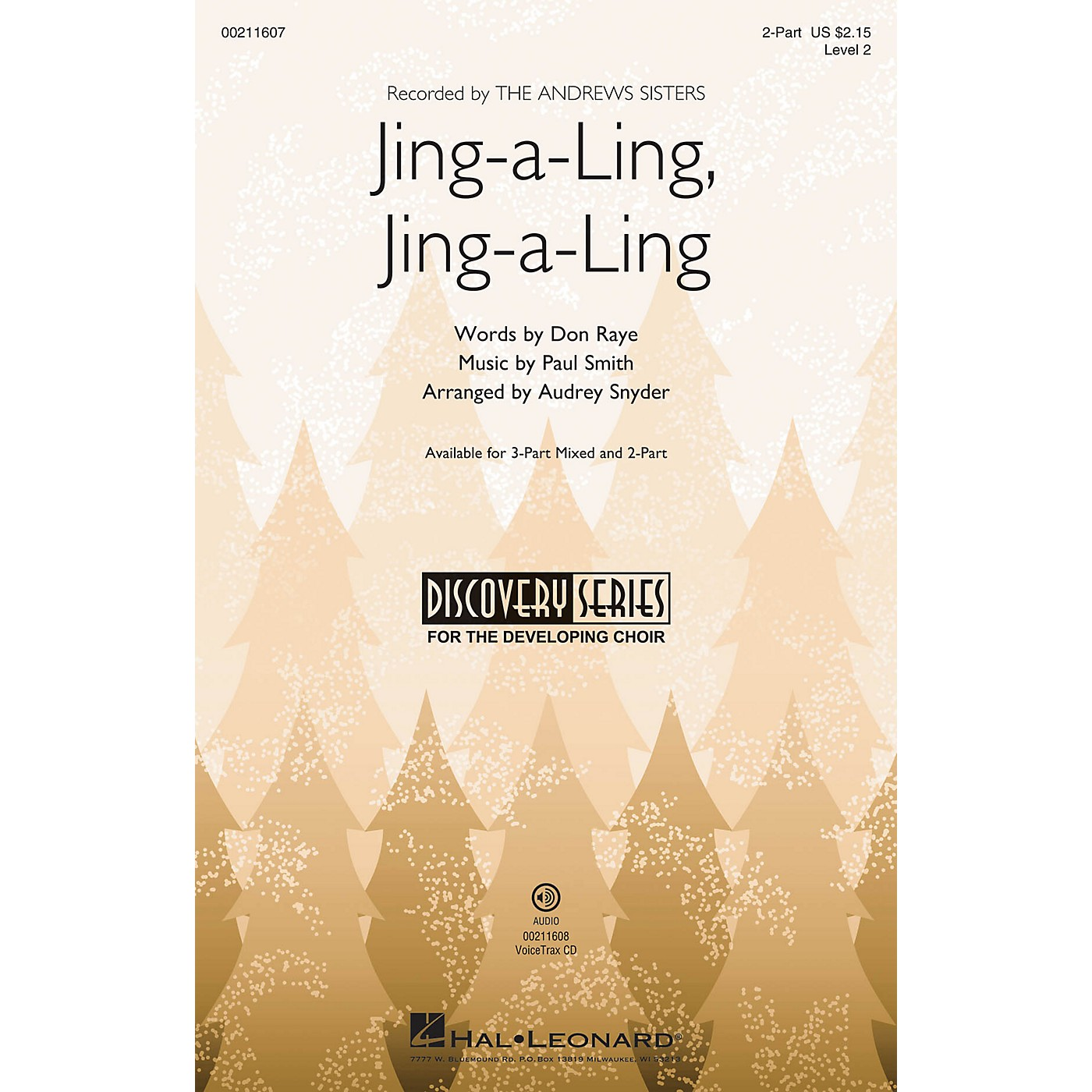 Hal Leonard Jing-a-Ling, Jing-a-Ling (Discovery Level 2) 2-Part arranged by Audrey Snyder thumbnail