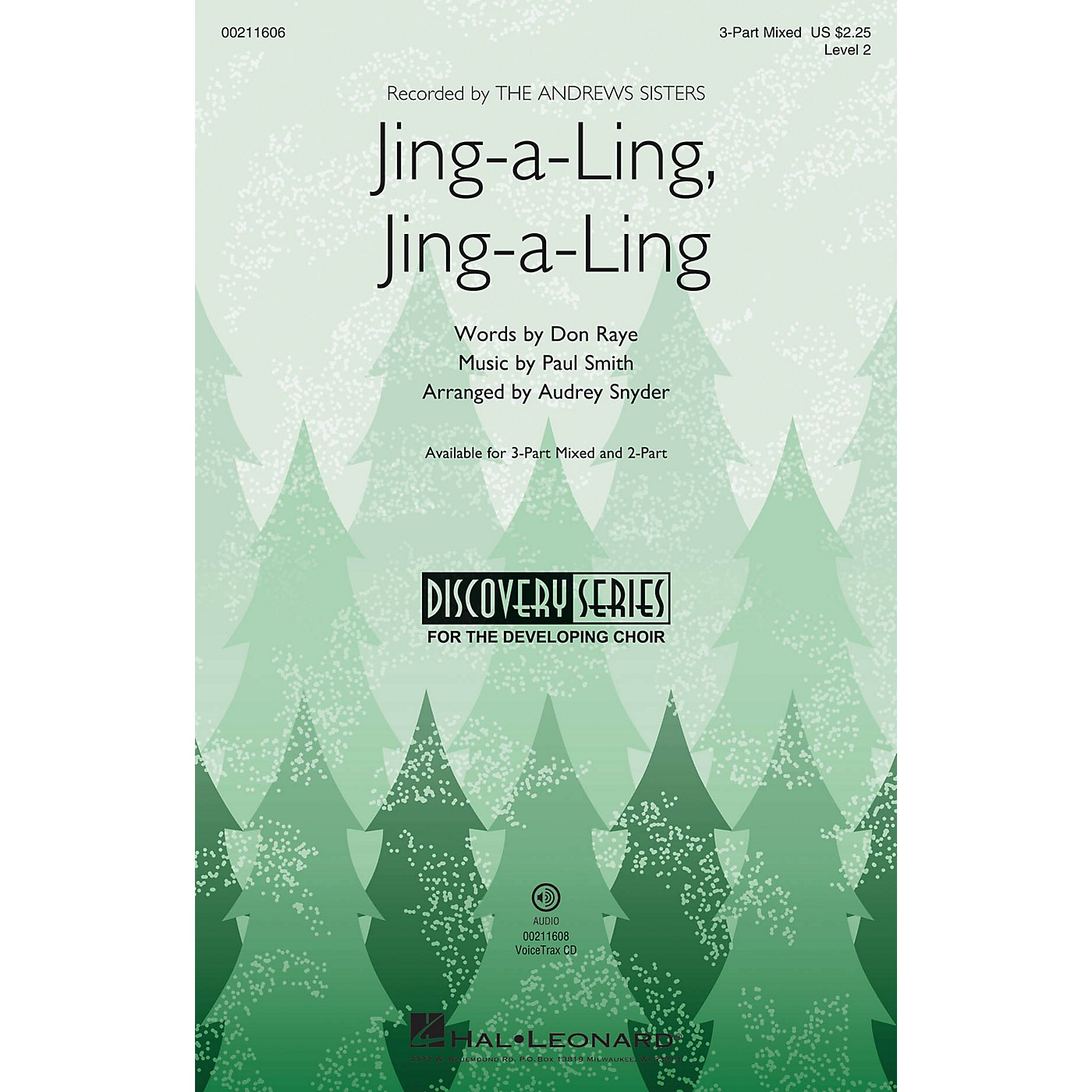 Hal Leonard Jing-a-Ling, Jing-a-Ling (Discovery Level 2) 3-Part Mixed arranged by Audrey Snyder thumbnail