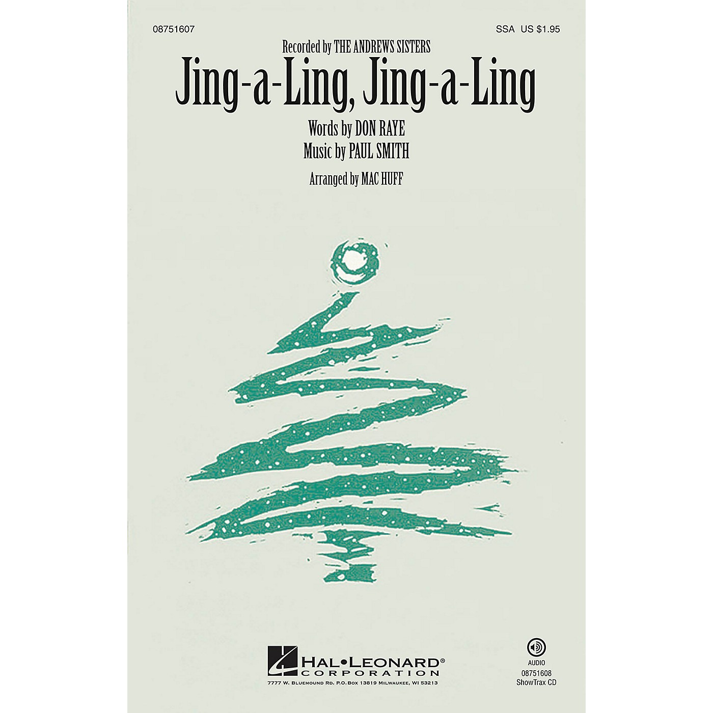 Hal Leonard Jing-a-Ling, Jing-a-Ling ShowTrax CD by The Andrews Sisters Arranged by Mac Huff thumbnail