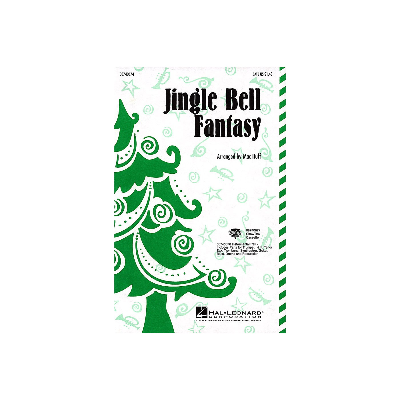 Hal Leonard Jingle Bell Fantasy SATB arranged by Mac Huff thumbnail