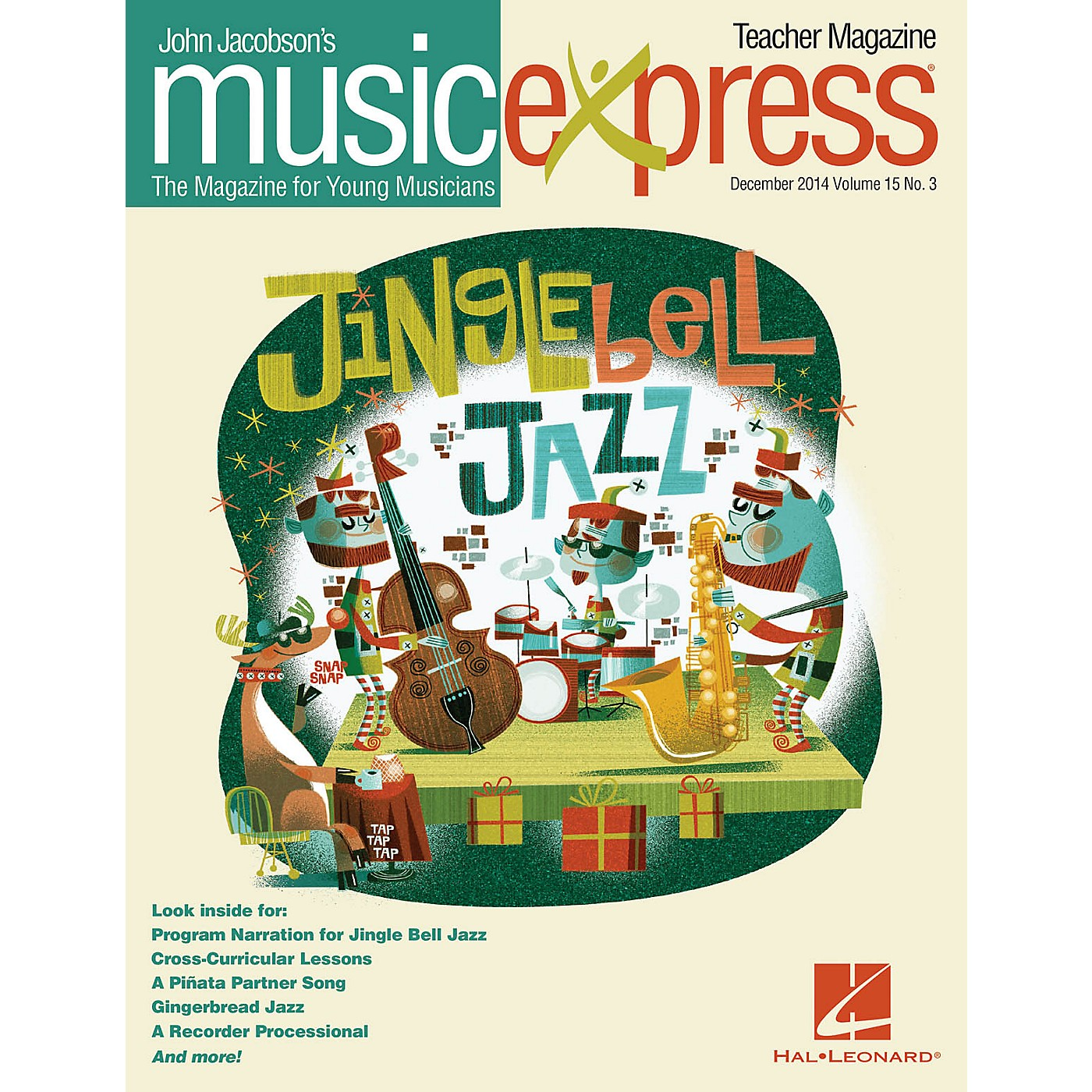 Hal Leonard Jingle Bell Jazz Vol. 15 No. 3 (December 2014) PREMIUM COMPLETE PAK Arranged by Emily Crocker thumbnail