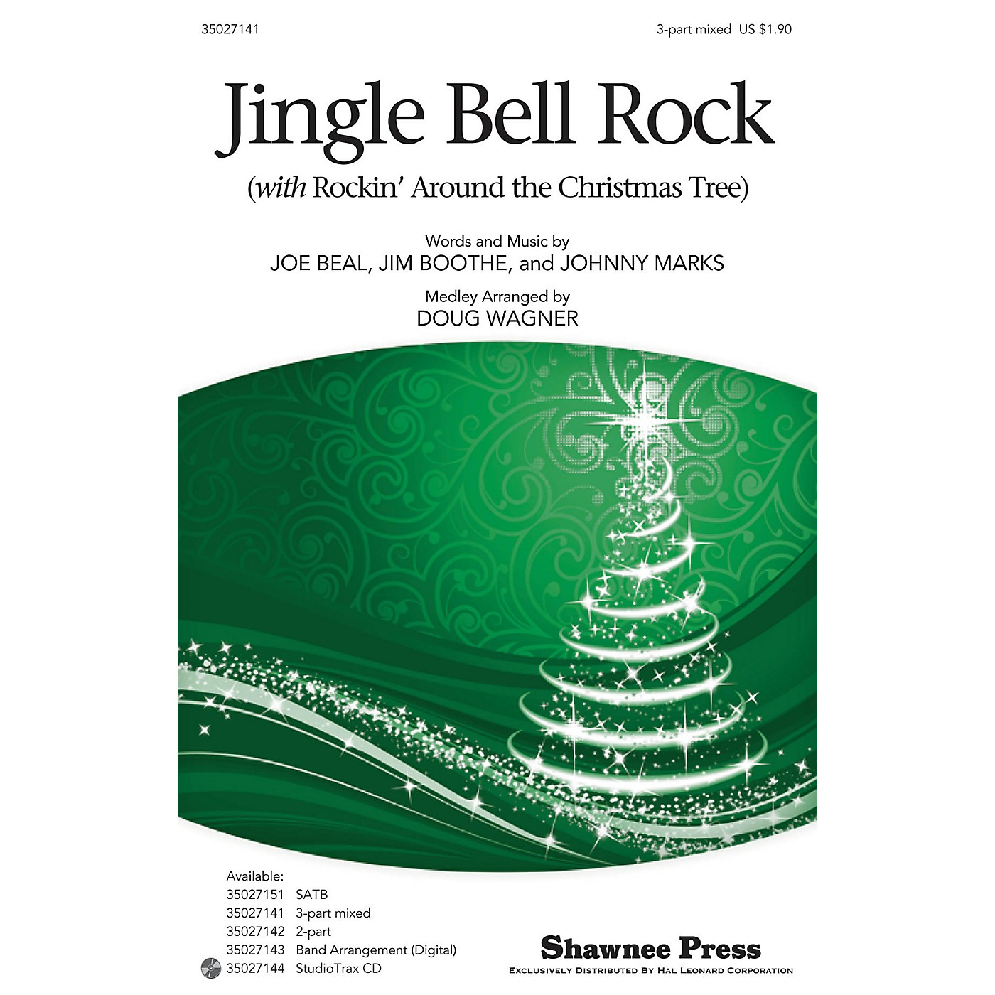 Shawnee Press Jingle-Bell Rock (with Rockin' Around the Christmas Tree) 3-Part Mixed arranged by Douglas Wagner thumbnail
