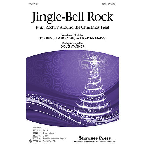 Hal Leonard Jingle-Bell Rock (with Rockin' Around the Christmas Tree) Studiotrax CD Arranged by Douglas Wagner thumbnail